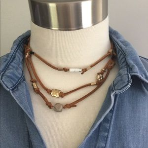 🌻Triple Strand Boho Choker Style Necklace NWOT🌻